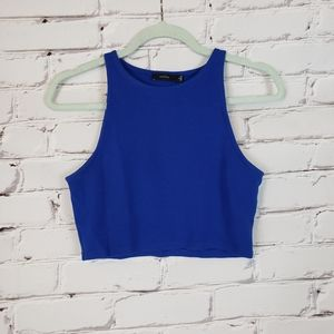 Talula Bright Blue Cropped Tank Top